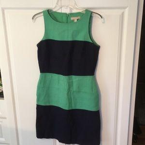 Banana Republic green and navy blue dress